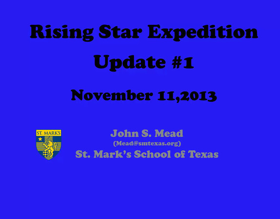 Rising Star Expedition Updates
